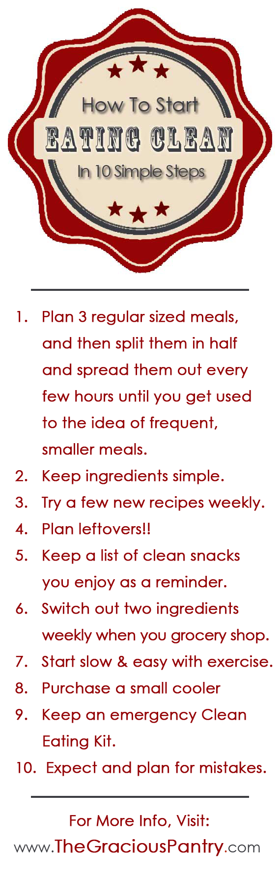 How To Start Eating Clean Pin Graphic For Pinterest