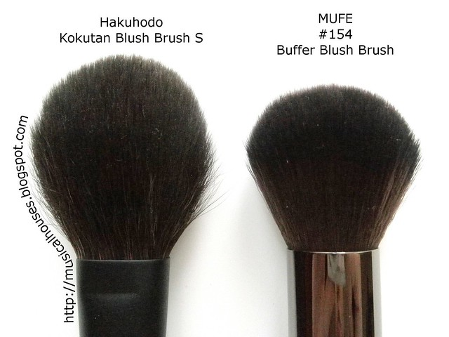 MUFE Buffer Blush Brush Hakuhodo Kokutan Blush Brush S