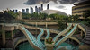 Waterslide sculpture in Singapore