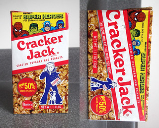 Vintage 1970's Cracker Jack Marvel Super Heroes Box
