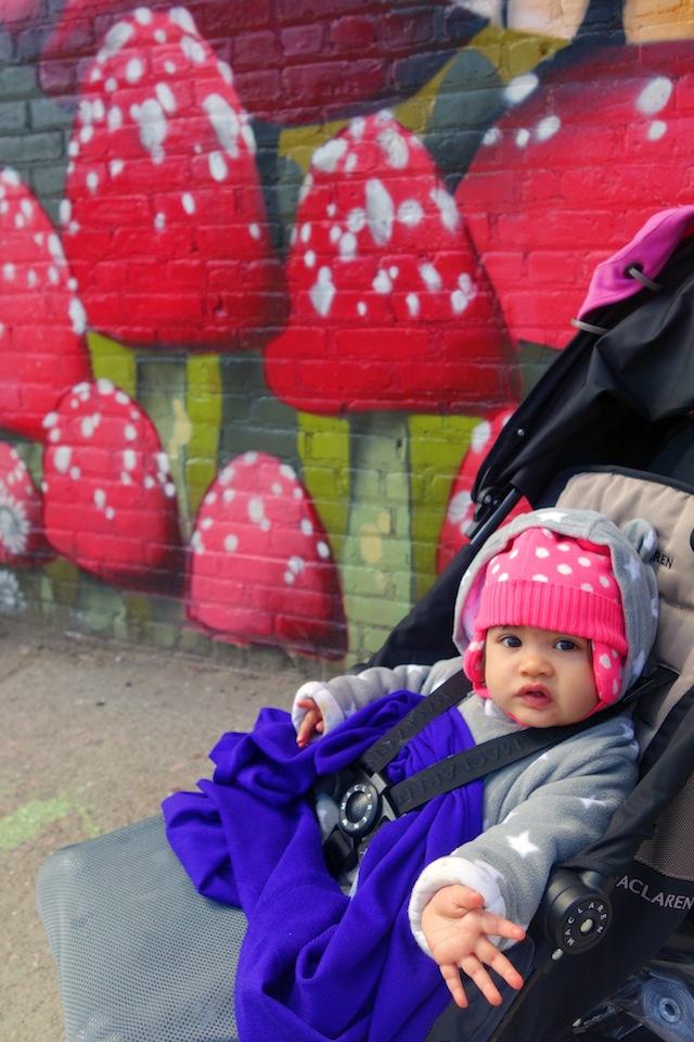 Brooklyn street art The Bushwick Collective toadstool baby