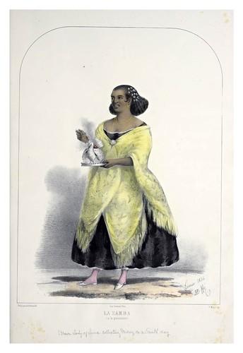 002- La zamba a la procesion-Recuerdos de Lima, álbum, tipos, trajes y costumbres Vol 2-1857-Bonaffé A.A.