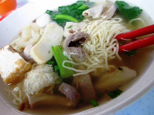 Mixed soup noodles