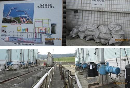 抽水機房,阻隔海洋垃圾的攔汙柵,黑桶子裡裝著毒殺海洋生物,以保護核電廠的藥劑。來源:蔡雅瀅,台灣蠻野心足生態協會