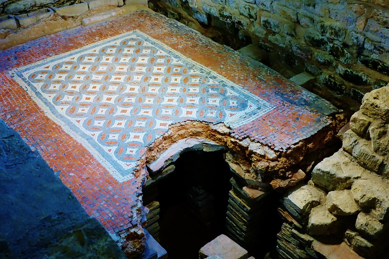 Mosaic Floor at Chedworth Roman Villa, England