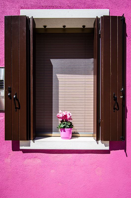 The pinkest house in Burano, Italy.