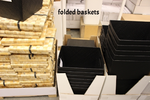 folded baskets