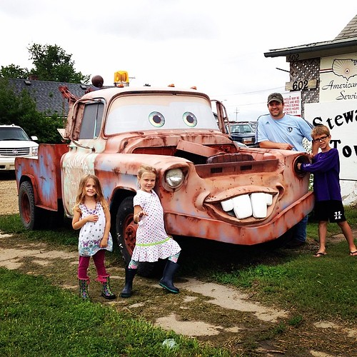 Who needs Disney World when you have Clay Center, KS?! We found Mater!!