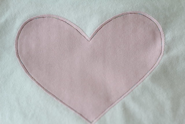 knit heart applique by replicate then deviate