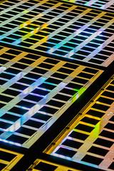 Colorful Solarium roof at night — Earth Tones