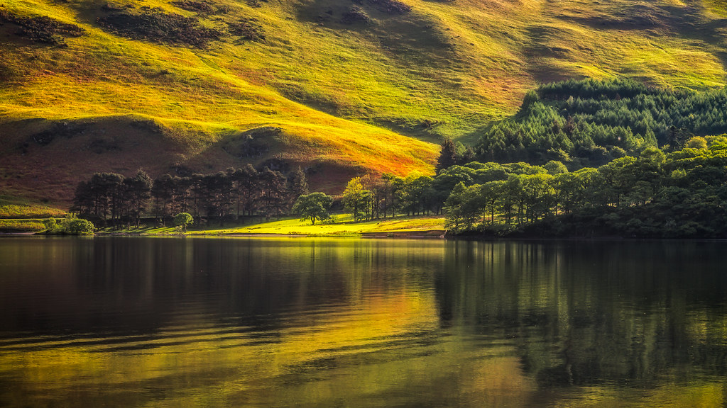 Crummock Water bathed in Light