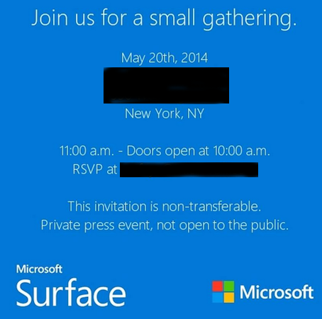 Surface Event Invitation