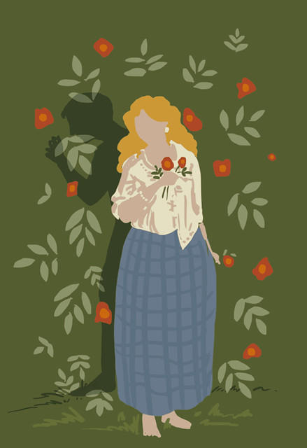 Illustration Friday: Temptation - simplified flat colour