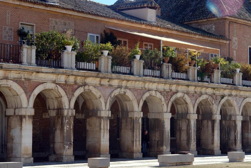 Soportales de la plaza de armas del Palacio
