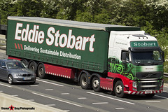 Volvo FH 6x2 Tractor with 3 Axle Curtainside Trailer - PX11 BYK - H4669 - Olivia Louise - Eddie Stobart - M1 J10 Luton - Steven Gray - IMG_9792