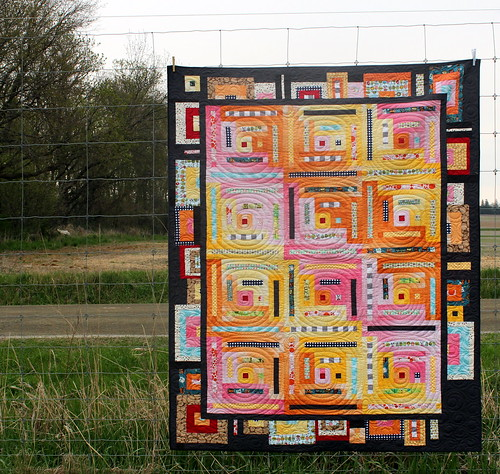Modern Log Cabin Riley Blake Quilt