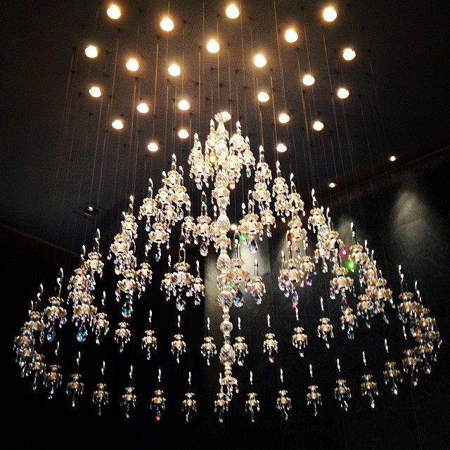 Philippe Starck is making it rain... in crystals and candles. #design #interiordesign #architecture #chandelier #luxury #nyc #wallst #manhattan