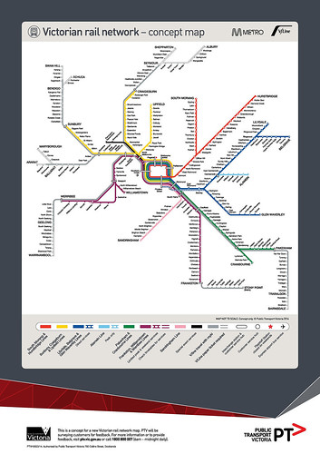 PTV proposed new rail map (May 2014)