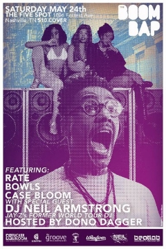 """5/24 - Sat. at The Five Spot Nashville for """"The Boom Bap"""""""