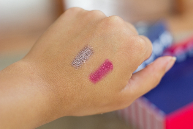 Glossybox, Glossybox Juni 2014, Glossybox Stars & Stripes Edition, Sumita Champagne Eye Shadow Pencil, Bellapierre Lipstick Burlesque