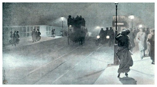 013-Escena nocturna en el puente Vauxhall-The colour of London 1907- Yoshio Markino