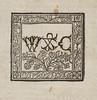 Woodcut printer's device in Statuta Angliae