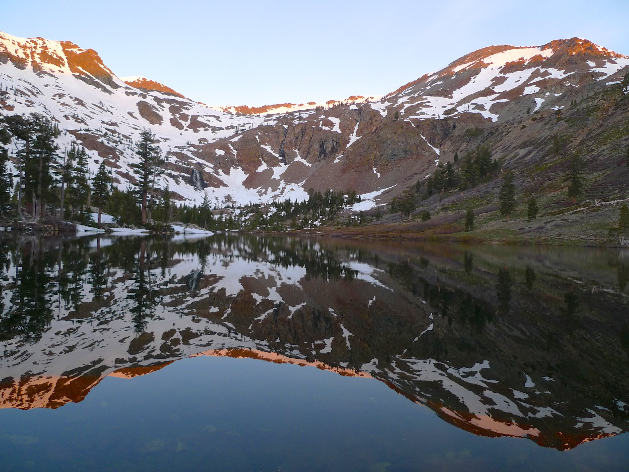 Alpenglow at Half Moon Lake