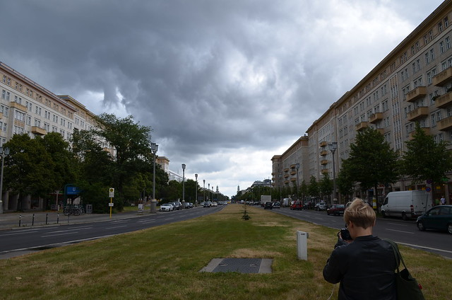 European Instagram meetup #EverchangingBerlin_Karl Marx Allee photographer stormy sky