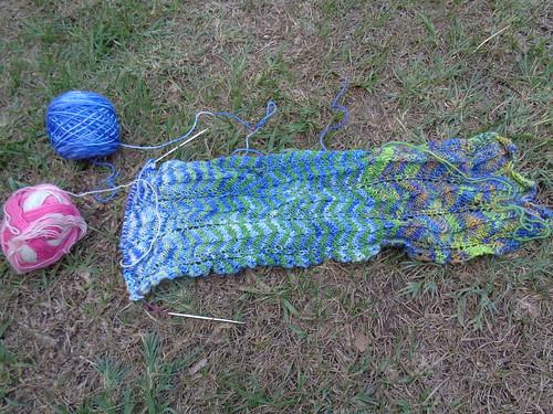 chevron scarf progress