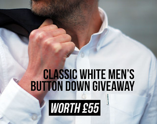 Classic white button down men's giveaway
