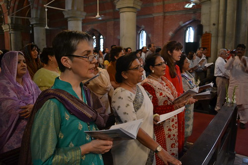 Mrs Welby joins other Anglican women in worship