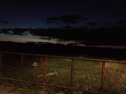 sunset clouds gate