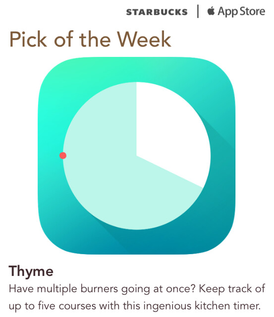 Starbucks iTunes Pick of the Week - Thyme