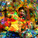 Neymar quot Series Of Paintings By Kubo Cup Brazil 2014