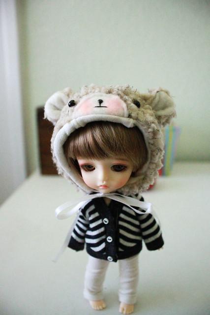 Sweet Cream Bear Hat