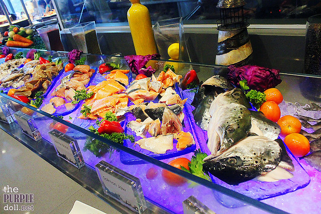 Seafood selection for grilling