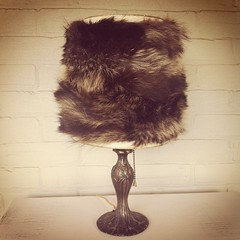 Mid-week crafting inspiration: Real fur lampshade. I made this out of an old fur coat!