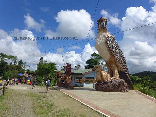 Big eagle sculpture. DDD Habitat Inc. at Lorega, Kitaotao, Bukidnon