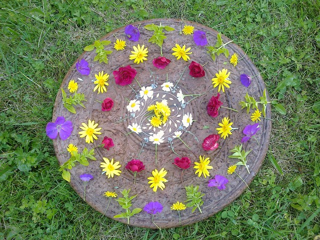 solstice flower mandala