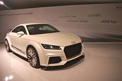 executive car(0.0), family car(0.0), automobile(1.0), automotive exterior(1.0), audi(1.0), wheel(1.0), vehicle(1.0), automotive design(1.0), auto show(1.0), audi tt(1.0), bumper(1.0), land vehicle(1.0), coupã©(1.0), sports car(1.0),