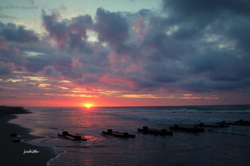 ocean sea beach nature sunrise newjersey sand wildwood