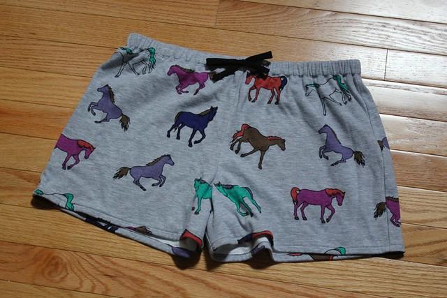 Horse Pajama Shorts