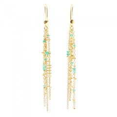 Waterfall Emerald Pin Earrings