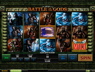 Battle of the Gods slot game online review