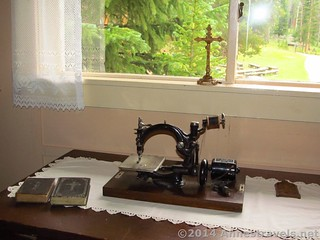 An old-fashioned sewing machine at the Holzwarth Historic Site, Rocky Mountain National Park, Colorado