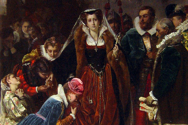 Mary Stuart walks to the Scaffold by Scipione Vannutelli, 1861