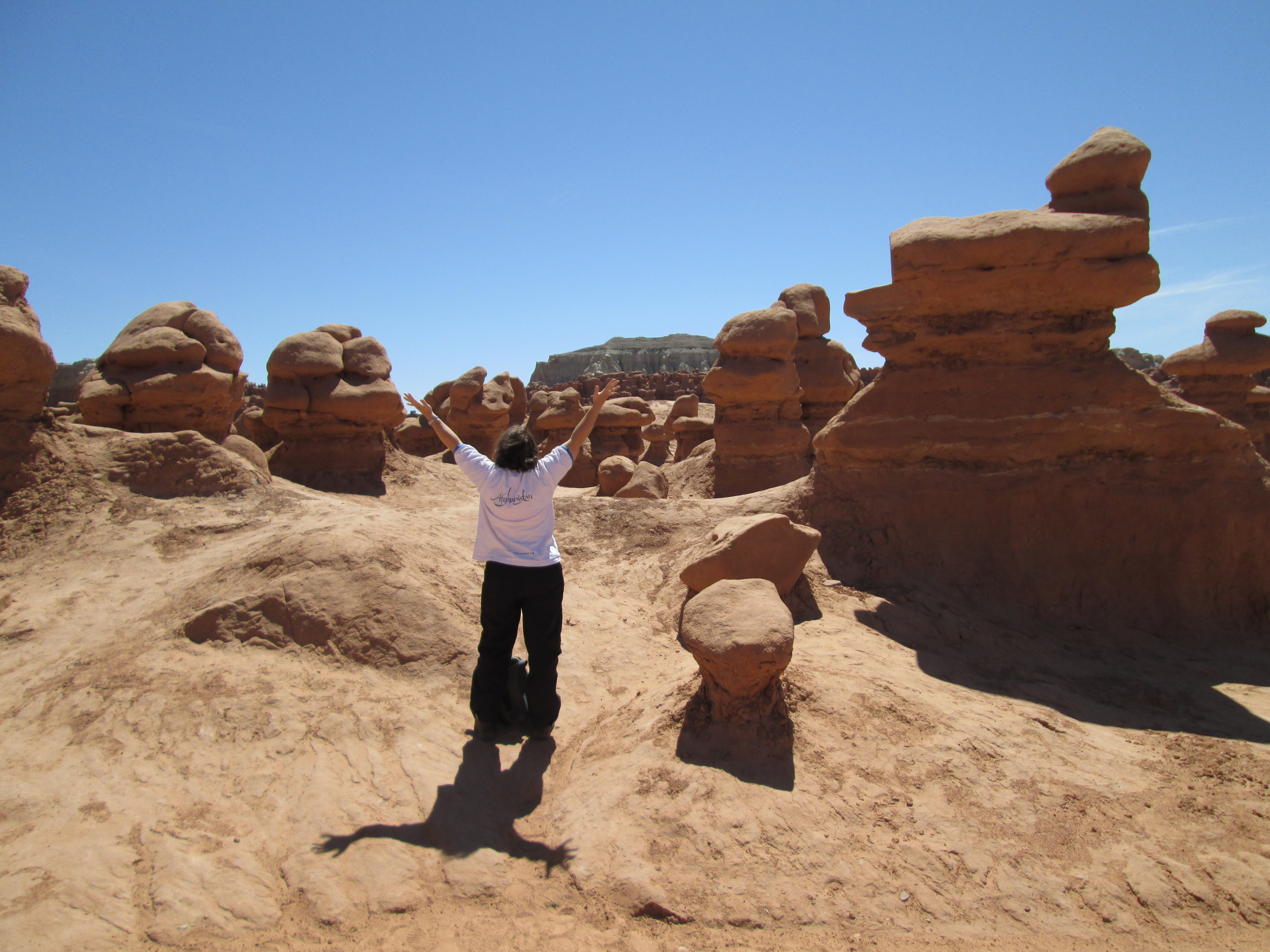 Me in my Afghanistan t-shirt at Goblin Valley
