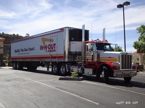 truck diesel fastfood semi explore innoutburger peterbilt 18wheeler 9000views prescottaz sonydscw220 26june2014