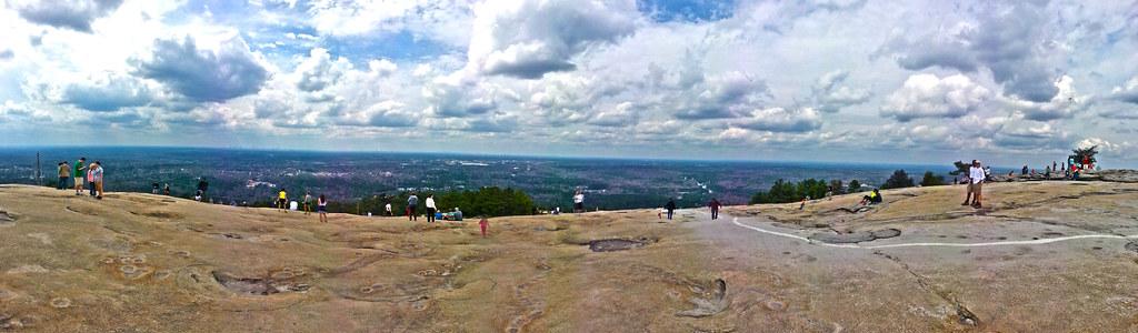 stone mountain, pano