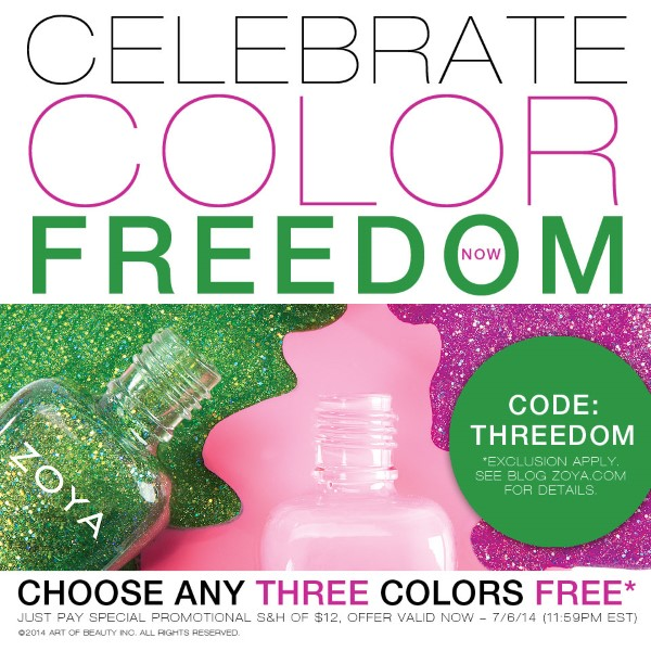 Zoya nail nails polish polishes free three 3 sale sales